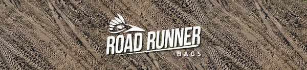 Road Runner Bags Dirt Tracks Logo for Bike Packing, Bike Touring, Gravel Grinding and all types of Adventure Riding.