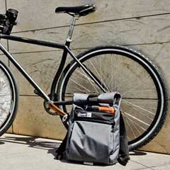 small roll top backpack for cyclists