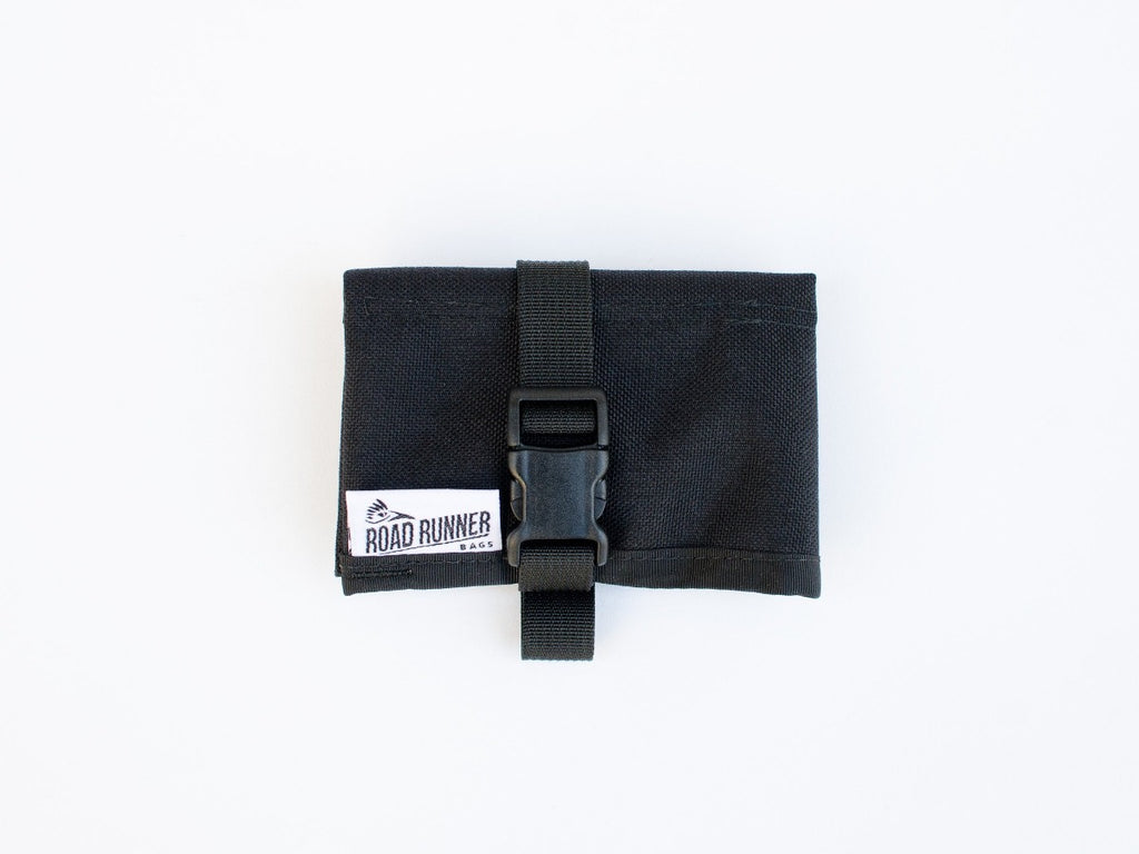 tool/saddle roll for gravel riding, road riding and bike commuting