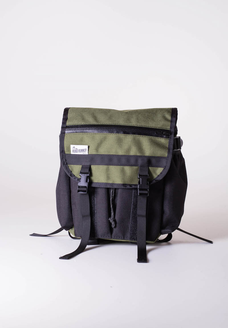 road runner bags front rack bag olive drab green
