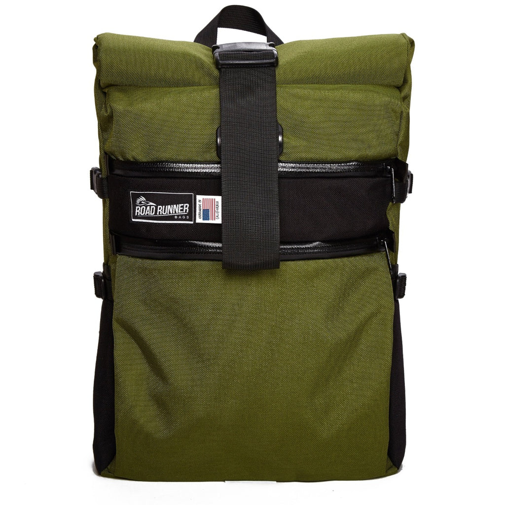 Large Roll Top Backpack - Bicycle Bag by Road Runner Bags
