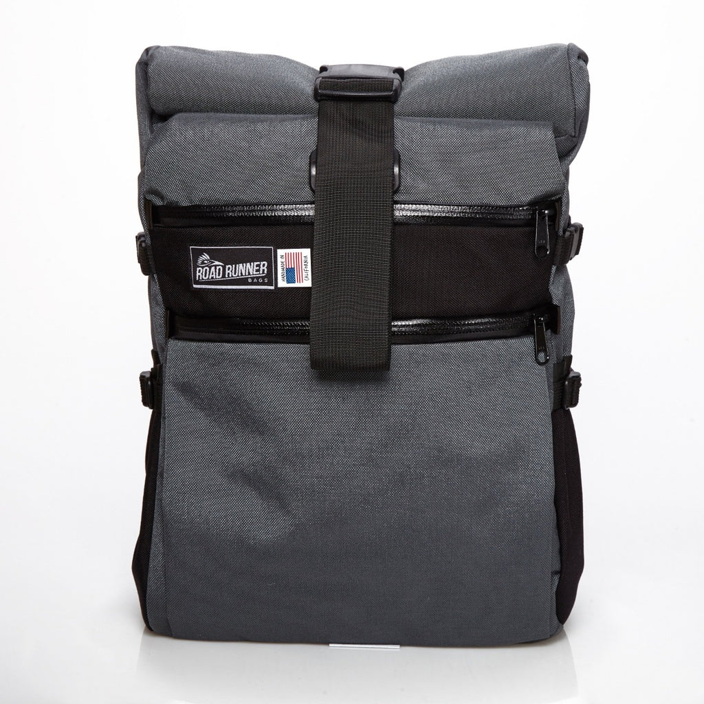 Medium Roll Top Backpack - Bicycle Bag by Road Runner Bags