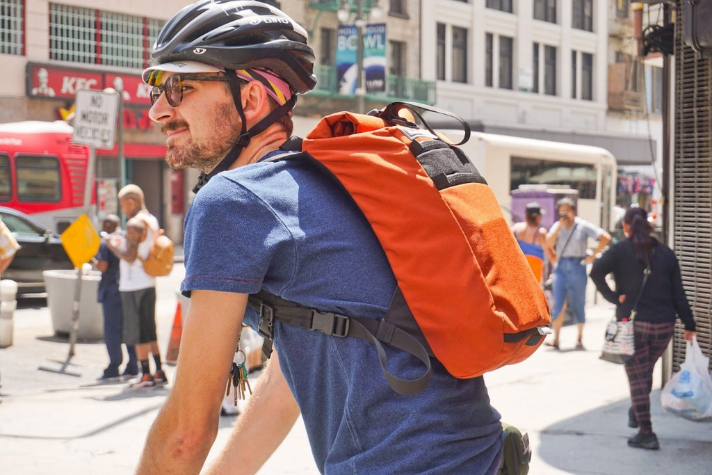 Small Roll Top Backpack - Bicycle Bag by Road Runner Bags