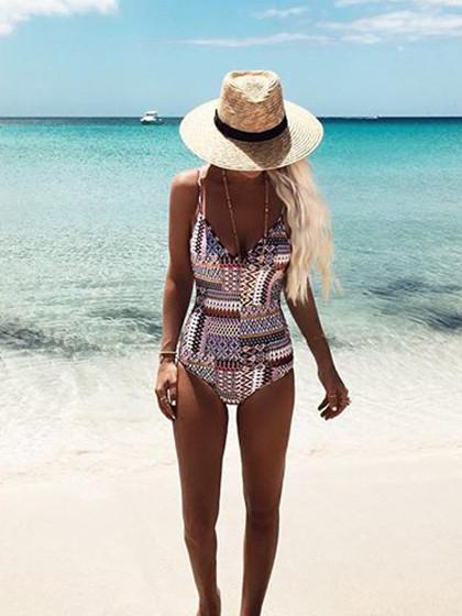 Gypsy Pattern One Piece Swimsuit