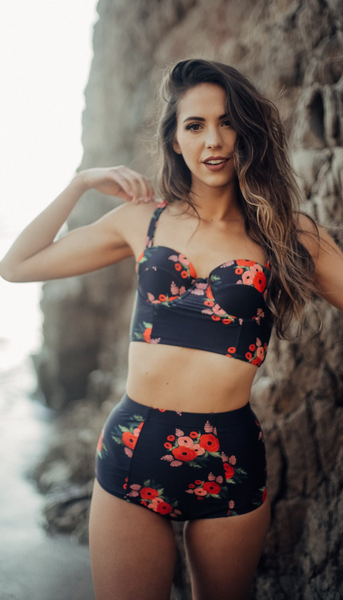 Grove Crop Top Bikini Sets