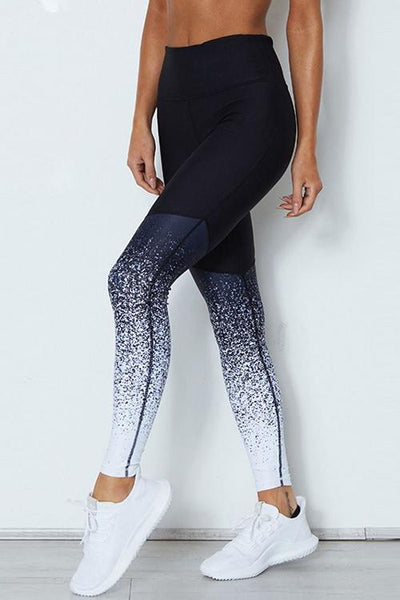 Gradient Patchwork Yoga Pants