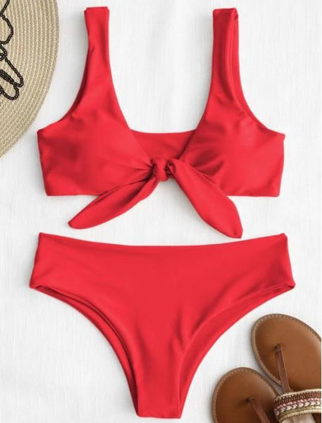 Red Knot Bikini Bathing Suit