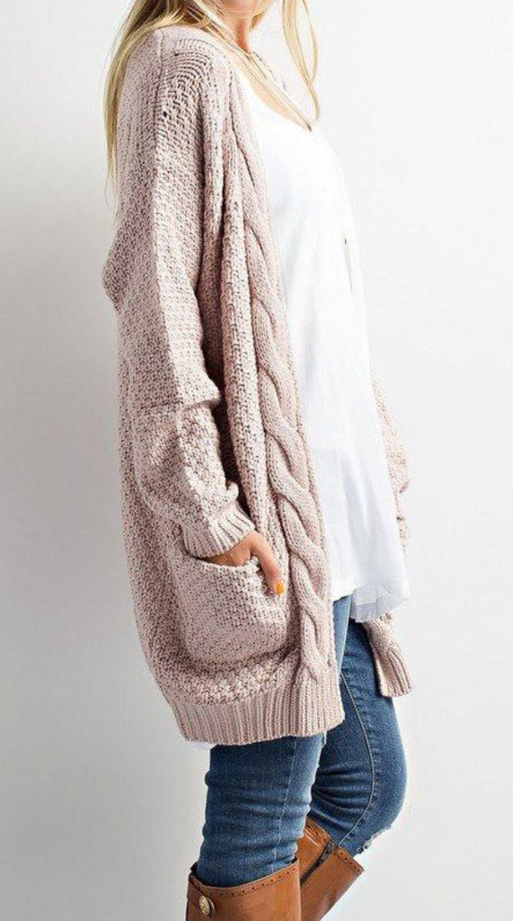 e990e27cf99b42 Cozy Cable Knit Longline Cardigan Sweater – Lilly Closet