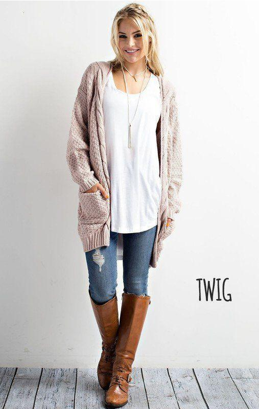 33eccede34 Cozy Cable Knit Longline Cardigan Sweater – Lilly Closet