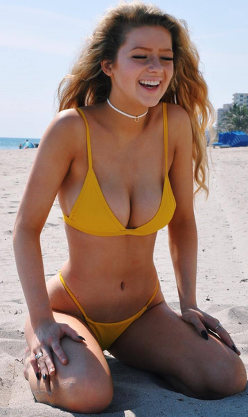 Yellow Triangle Cheeky Bottom Bikini Sets