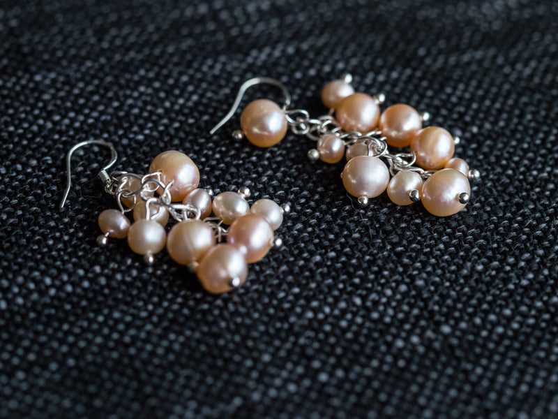 Pearl Berry Chandelier Earrings