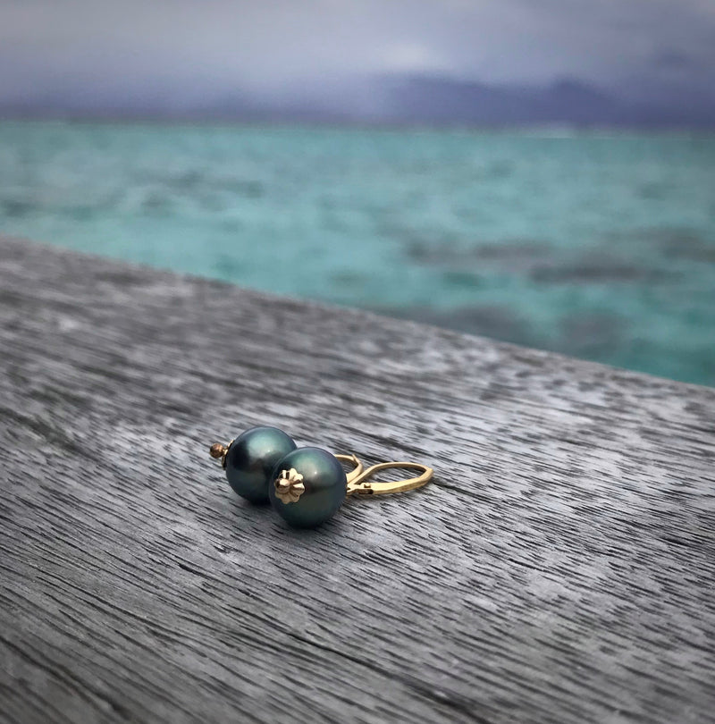 Tahitian Pearl Pendent Earrings