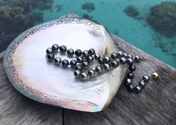 Tahitian Pearl Hand-Knotted Silk Necklace