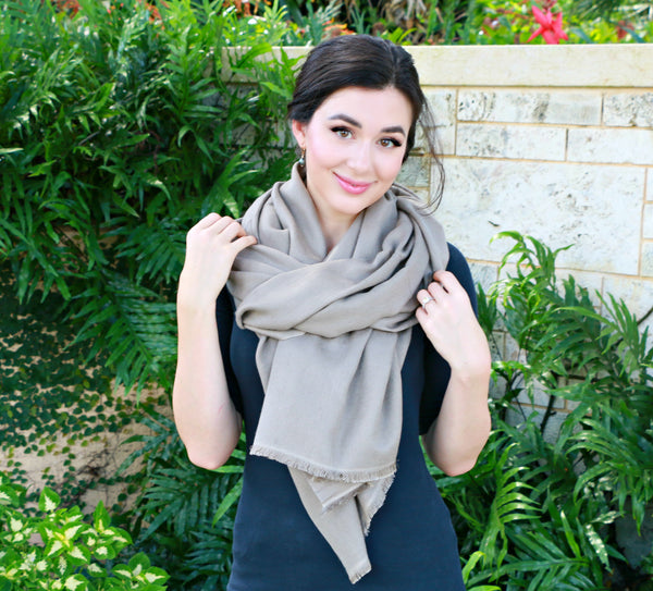 Irish Cream Taupe Scarf