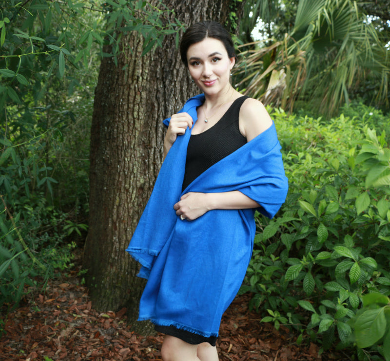 Sapphire of Bombay Blue Scarf
