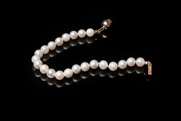 Akoya Hand Knotted Pearl Bracelet
