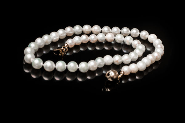 Akoya Hand Knotted Pearl Necklace