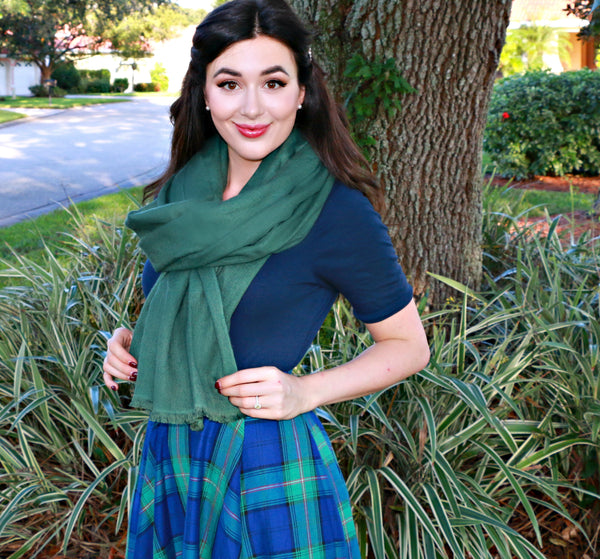 Evergreen Fir Holiday Scarf