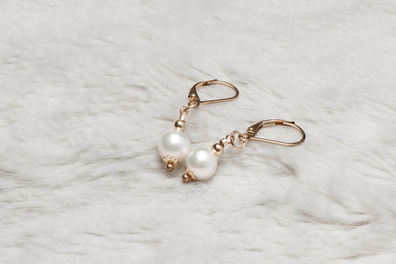 Akoya Pearl Pendent Earrings