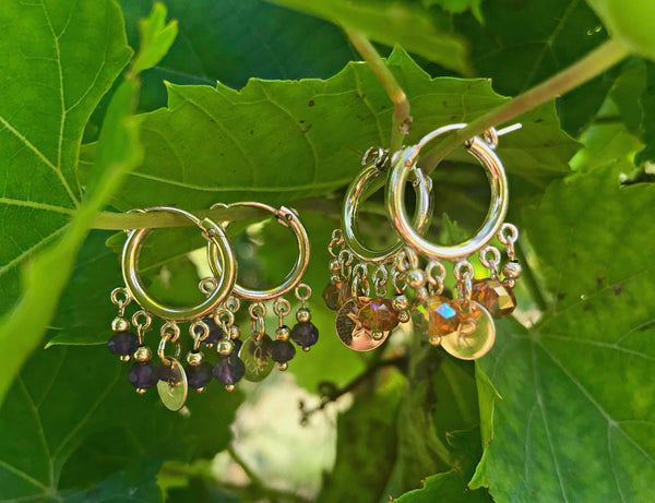 NOLA Gold Custom Hoop Earrings