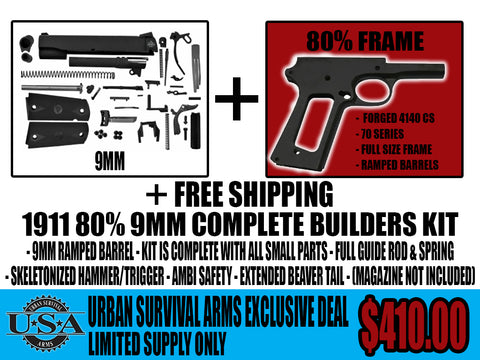 80% 1911 9MM COMPLETE BUILDERS KIT – Urban Survival Arms