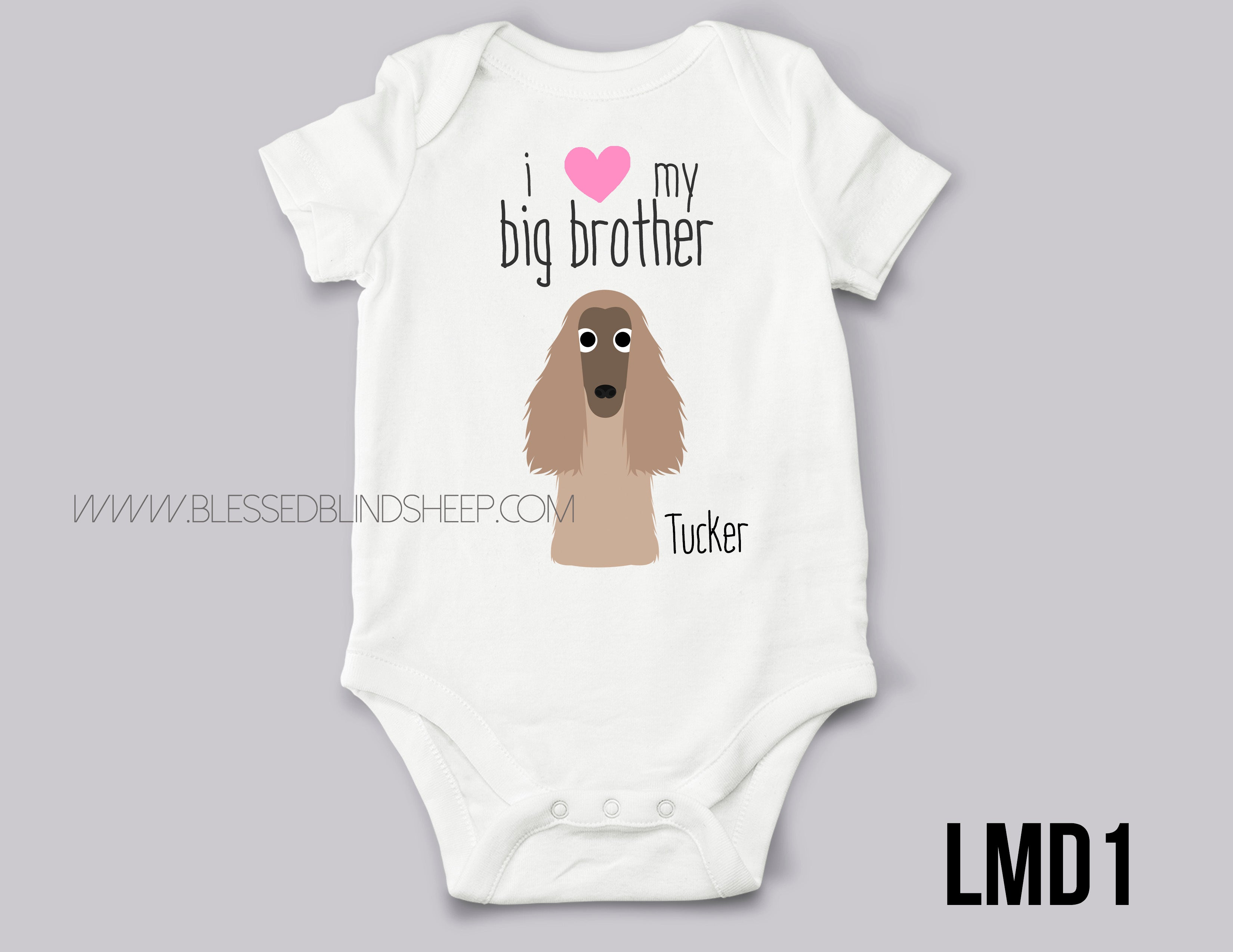 i love my afghan hound dog bodysuit brother dog sister dog 1