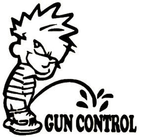 Pee on Gun Control Window Decal