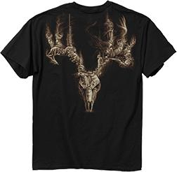 Buck Wear Dead Deer Walking Crew Neck T-Shirt Back