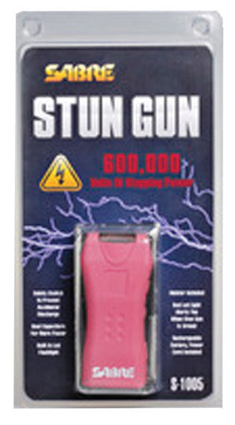 Sabre Dual Capacitor Stun Gun with LED Flashlight Pink