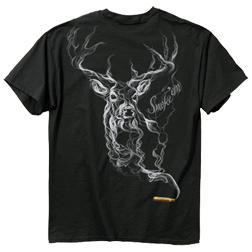 Buck Wear Smoke Deer Crew Neck T-Shirt