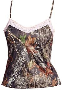 Mossy Oak Camisole with Pink Lace Trim