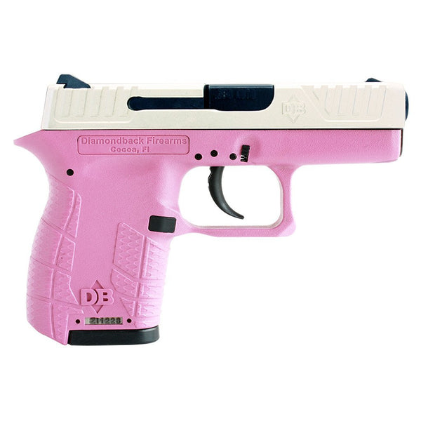 Diamondback DB380 .380 ACP Centerfire Subcompact Pistol With Pink & Stainless Steel Finish