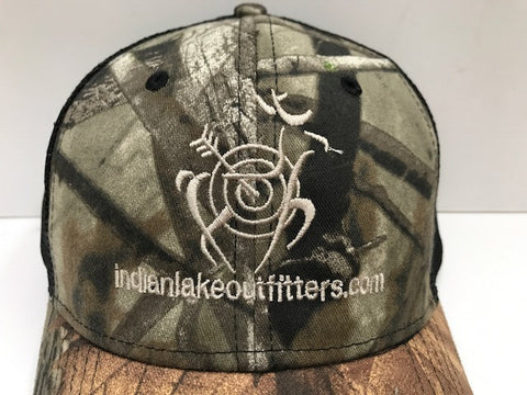 Indian Lake Outfitters #TeamILO Camo Baseball Cap Front View
