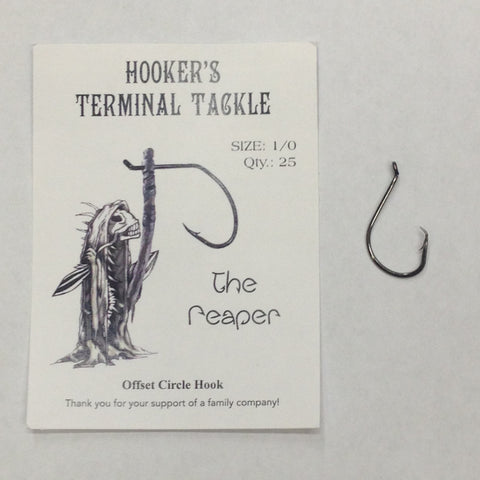 Hooker's Terminal Tackle Reaper 1/0 Offset Circle Hook