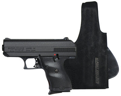 Hi-Point Firearms C9 9mm Centerfire Pistol in Matte Black w/ Galco Paddle Lite Holster