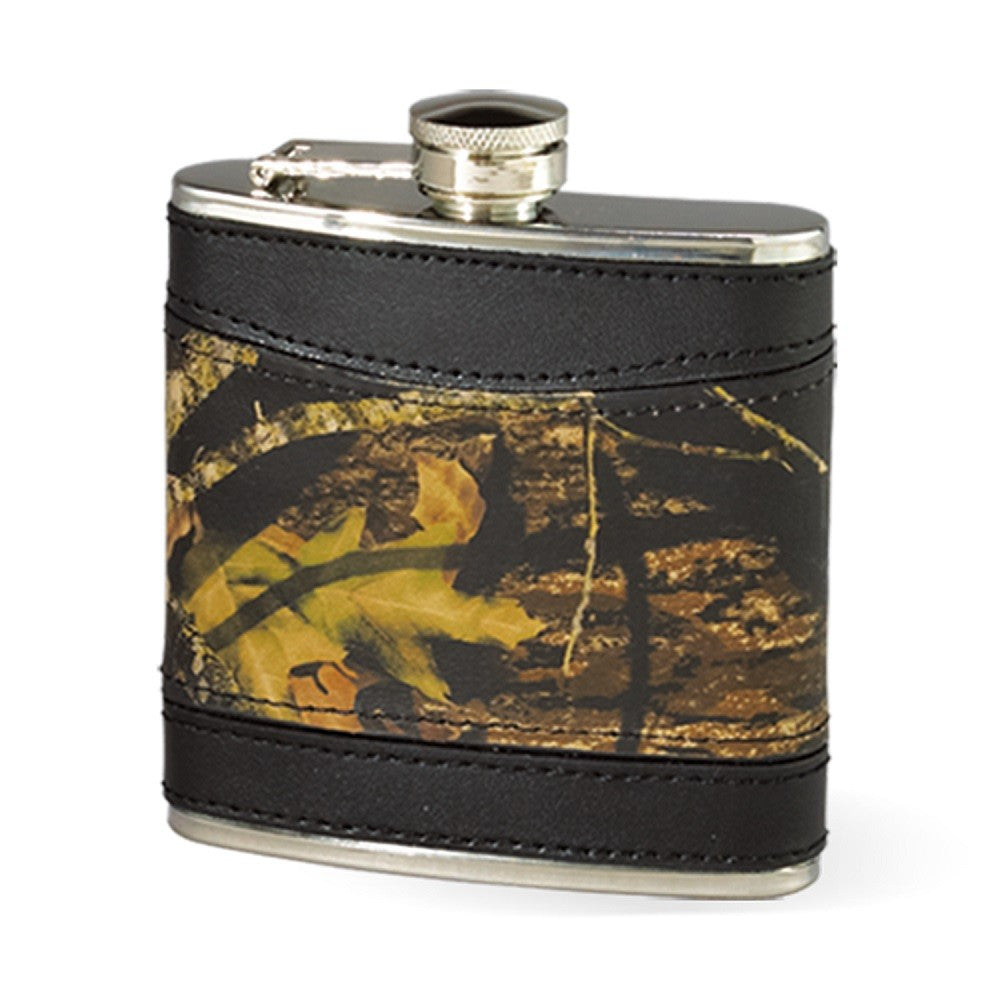 Camo Leather Flask by Webers Camo Leather Goods