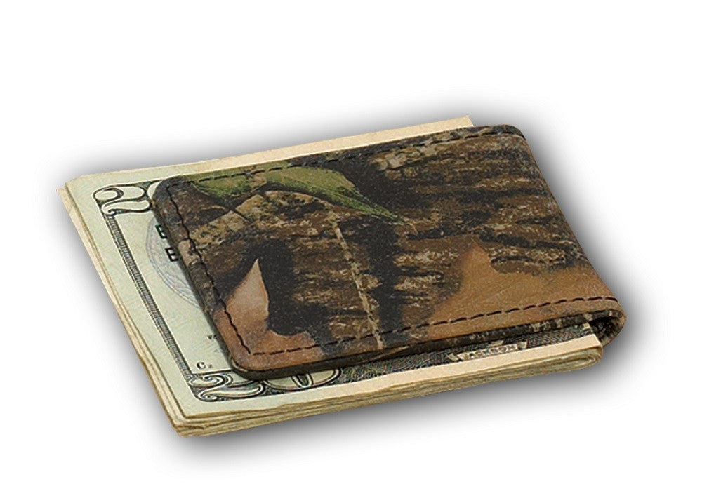 Camo Leather Magnetic Money Clip by Webers Camo Leather Goods