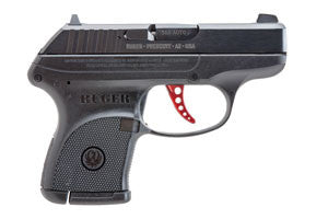 Ruger LCP .380 Centerfire Pistol Blued Red Anodized Trigger