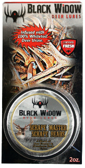 Black Widow Deer Lures 2oz. Scrape Master Scrape Beads