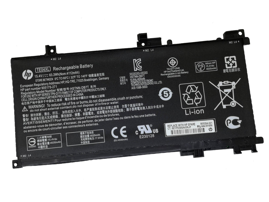 Battery Notebook HP Omen 15-AX200, 15-BC Series TE04 TE03