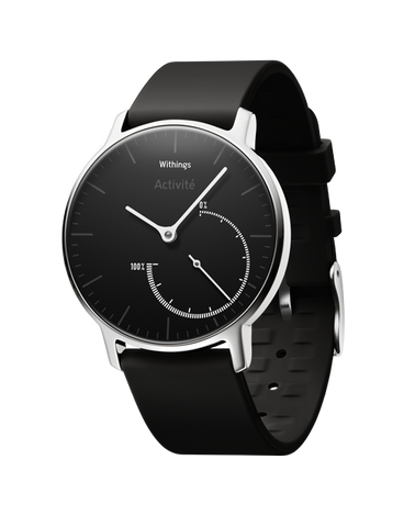 Withings Activité Steel - Activity and Sleep Tracking Watch (Black/Black)