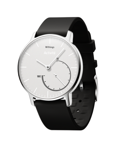 Withings Activité Steel - Activity and Sleep Tracking Watch (Black/White)
