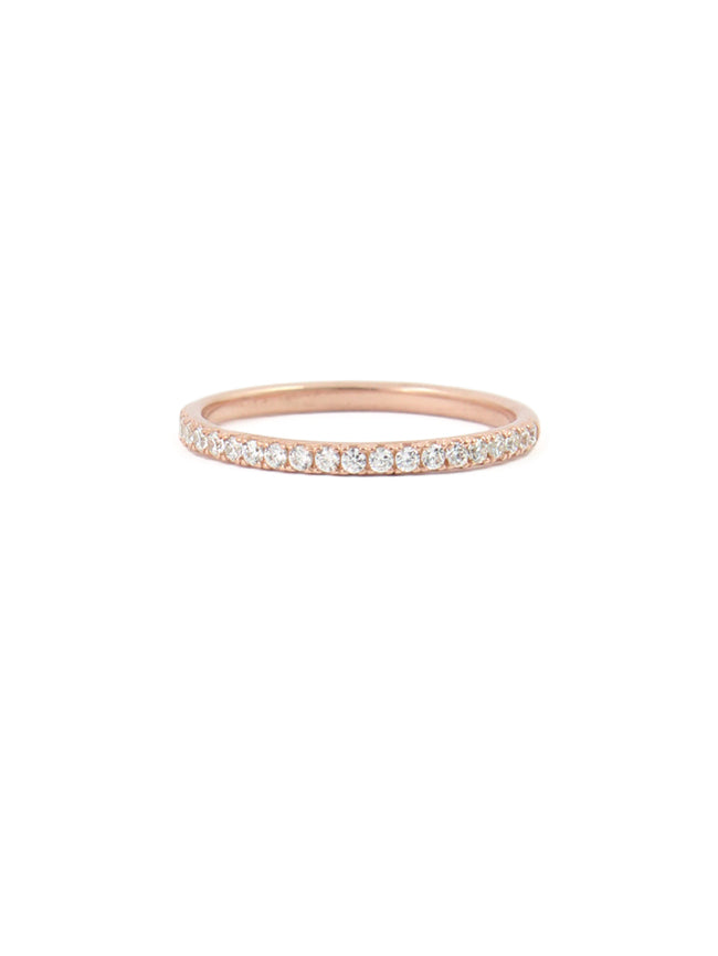 White Micro Pave Ring