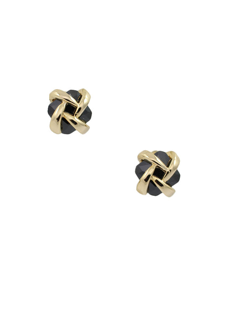 Gold Wrapped Black Studs