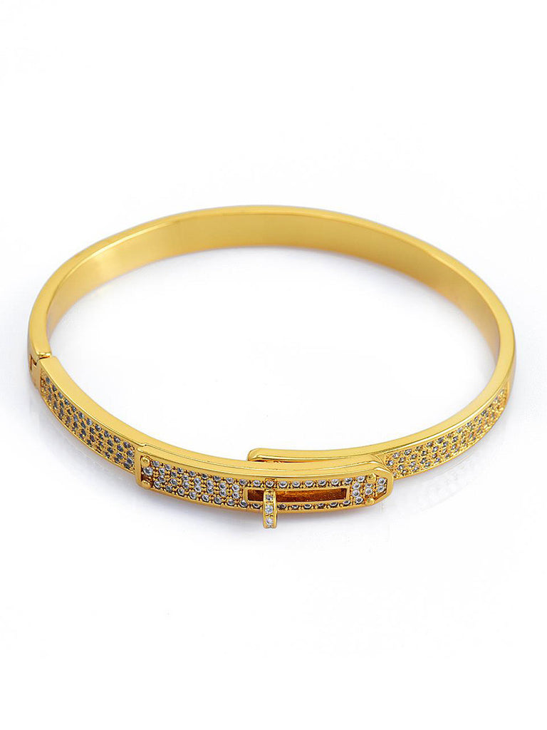 Crystal Pave Locked Bangle