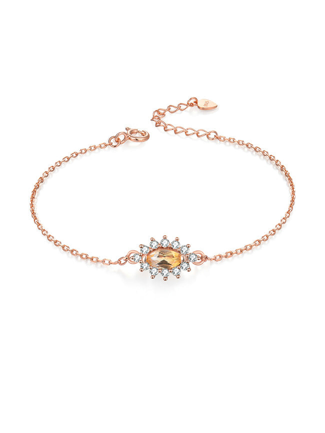 Citrine Sunflower Bracelet
