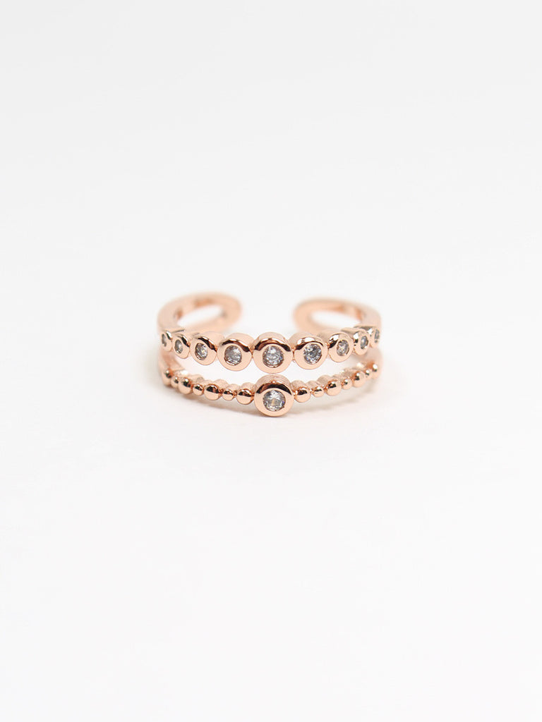 Double Layered Studs Ring