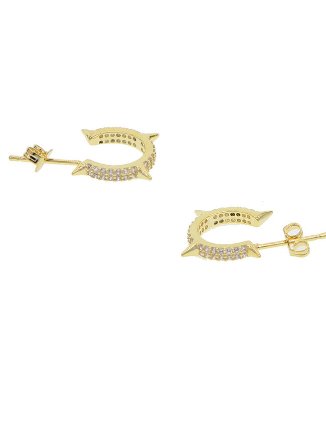 Spiked Gold Hoop Earring
