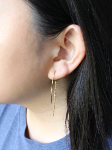 Curve Threader Earrings