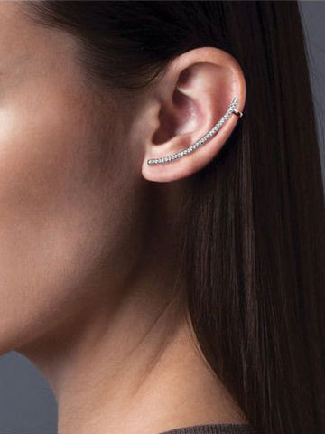 Asymmetrical Arch Cuff Earrings